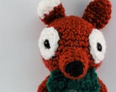 Rusty Sly Fox, Amigurumi Fox Plush, Plush Fox, Crochet Fox, Red Fox, Winter Fox, Holiday Fox