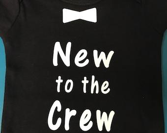 Baby boy, Boys onesie, New to the crew, baby boy onesies