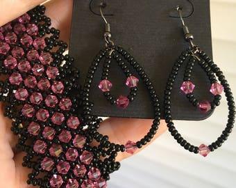 Pink Swarovski set