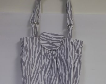 Custom made Zebra print 5 pocket medium wight cotton outside denim lining on the inside All is double stitched made to last