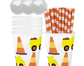 Construction Truck Car Caddy Roll Up Tote With Road