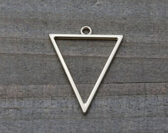5 PIECES triangle pendant light gold plated, triangle pendant, geometric pendant, triangle charm, earring findings 35 mm B0085518