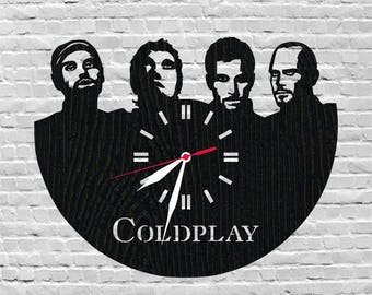 Coldplay clock/Rock band/British music/Rock musicians/Gift for music lover/Musician gift ideas/Uk rock band/Coldplay gift/Chris Martin