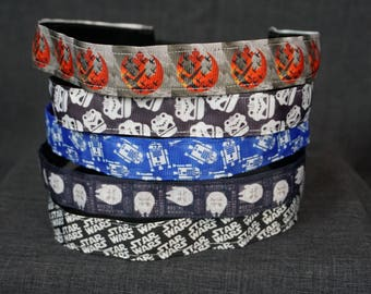 Star Wars Inspired Non-slip Headband - Rebel, Stormtrooper, R2D2, Millennium Falcon, Star Wars