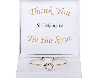 Bridesmaid Gift, Knot Bracelet, Bridesmaid Bracelet, Bridesmaid Proposal, Love Knot Jewelry, Tie the Knot, Tie the Knot Bracelet, Love Knot