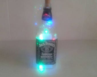 Jack Daniels whiskey bottle with #led#light #multicolour#light stopper#battery operated#novelty lights#night light