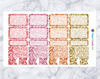 Just Peachy // Glitter Functional Planner Stickers