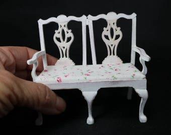 Miniature Bench Shabby Chic