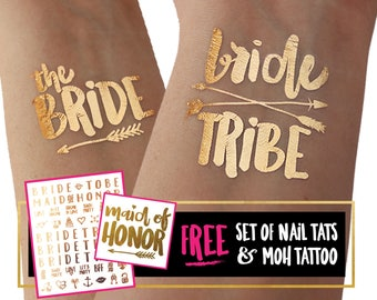 BRIDE TRIBE tattoos / Find your tribe and love them hard / bachelorette party accessories / fake tattoos skin tattoo / stagette / flash