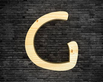 G wooden letters