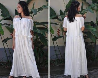Maternity Dress, Nursing Dress, White Baby Shower Dress, Maternity Photoshoot Dress, Wedding Dress, Gift, Maxi Off White Dress, Lace Dress
