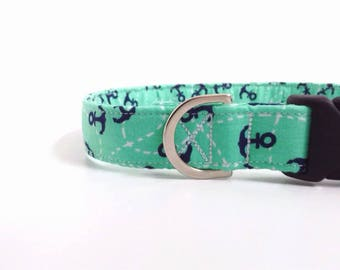 Nautical Dog Collar   Anchor Dog Collar   Boy Dog Collar   Large Dog Collar   Male Dog Collar   Small Dog Collar   Puppy Collar