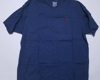 Polo Ralph Lauren & Co. Dark Blue V Neck Vintage T Shirt M