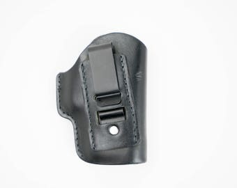 Glock 43  Leather IWB concealed carry holster