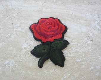 RED ROSE Patch Iron On
