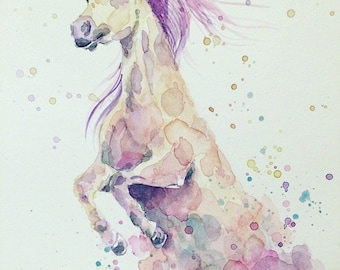 "Unicorn ""Orla"" Watercolour Print"