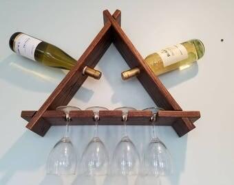 SALE!!!! **FREE SHIPPING** Wine Rack, Wine Storage, Wall Decor, Geometric Shelving