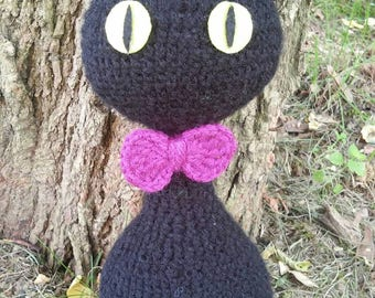 Black cat amigurumi, crochet, handmade