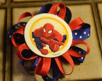 Spiderman Hair barrette/ clip
