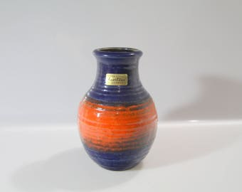 Pretty Vase by Carstens Fat Lava - West German Pottery WGP , ?-15