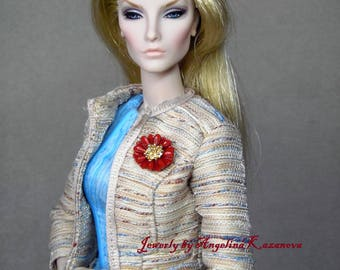 "Jewelry for dolls 12"" Fashion royalty, Poppy Parker - BROOCH - magnetic closure"