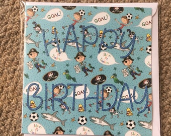 "Borrhday boy card- 6"" blank inside"