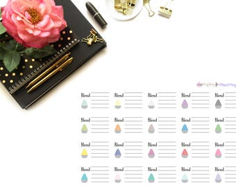 Essential Oil Blend Stickers/ Essential Oils / Blend of the Day. Perfect for your planning and scrapbooking needs!