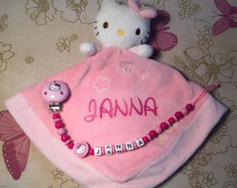 Doudou + pacifier personalized Hello kitty
