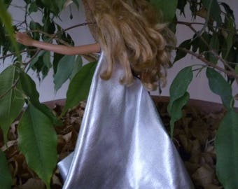 DRESS SILVERED FOR BARBIE DOLL