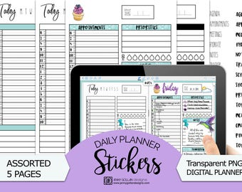 Digital Journal Stickers Daily Planner Bundle