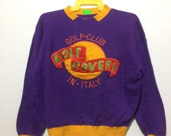 Vintage enrico coveri big logo clour block pullover crewneck sweatshirt