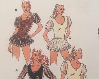 Misses Leotards Kwik Sew no.2310 Pattern Dance, Gymnastics Wear, Sizes XS, S, M, L - Uncut, Factory Folded