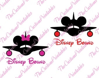 Disney, Bound, Boy, Girl, Airplane, SVG, Cricut Files, Silhouette Files, Cameo, Vector, T-shirt, Iron On
