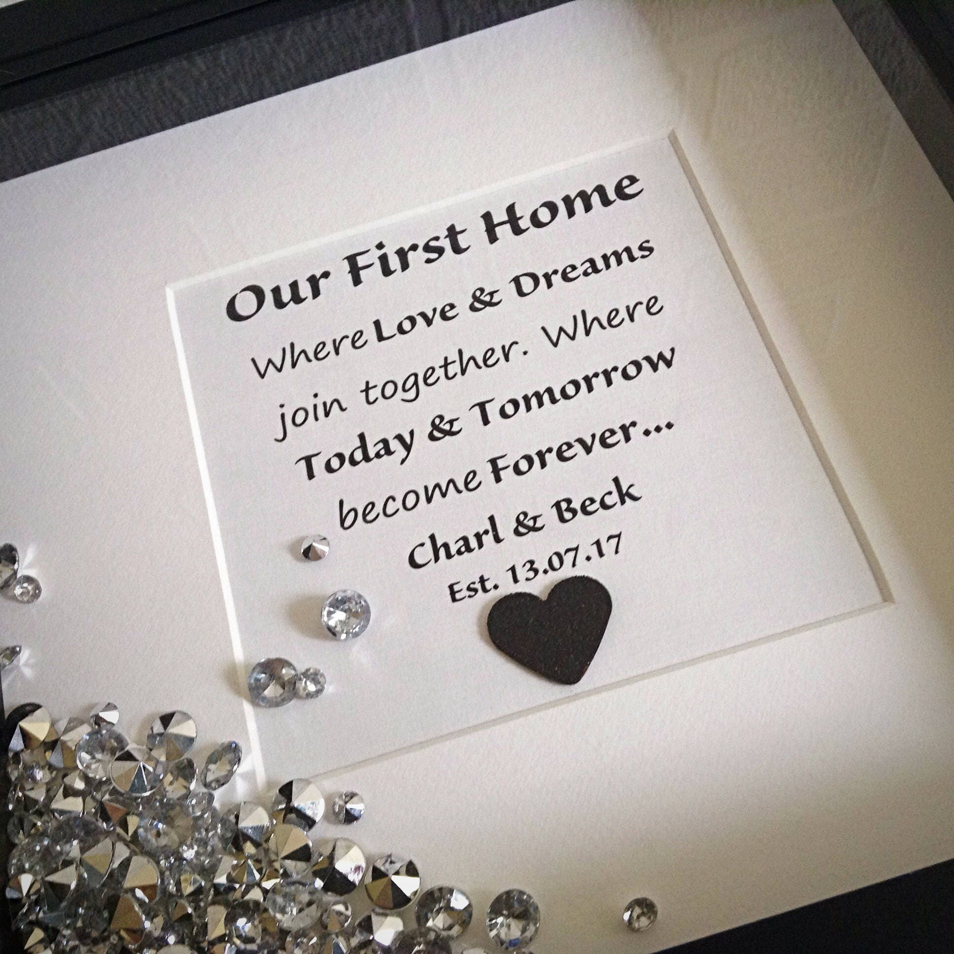New Home Quotes New Home Gift Quote Frame Housewarming Gift Our First Home