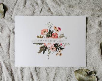 For Your Honeymoon, Wedding Gift, Honeymoon Gift, Printable, Wedding Card, Gift Card Wedding, Digital Instant Download, DIY Wedding