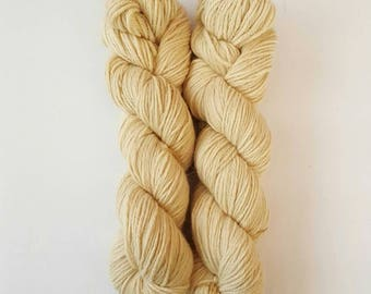 100% Fine Alpaca Yarn NATURALLY DYED  with Eucalyptus 220 yards