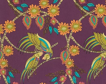 """Kathy Doughty  Free Spirit  """"Flock Together""""  Ring Around Medallion--Contemporary Cotton Fabric"""
