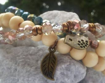 Summer stacks in faceted crystals
