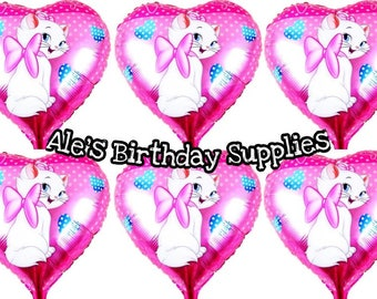 6 Pc Marie The Cat The Aristocats Balloons Party Birthday Supplies