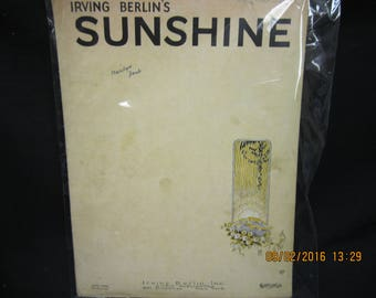 Irving Berlin - Sunshine - Sheet Music
