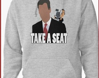 Take A Seat Funny Chris Hansen Hoodie