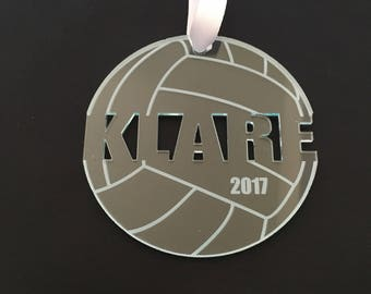 Volleyball Ornament - Volleyball Gift - Personalized Custom Christmas Ornament Sports Ornaments - Volleyball Coach Gifts - Engraved Ornament