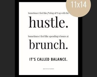Brunch Balance. || WALL PRINT (11 x 14)