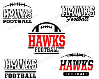 Hawks Football Bundle Download Files - SVG, DXF, EPS, Silhouette Studio, Vinyl Files, Digital Cut Files - Use with Cricut and Silhouette