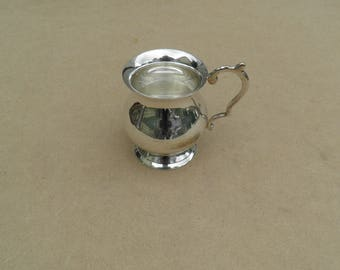 Mini Tankard - Silver Plated/EPNS - Engraved - Vintage Silverplate