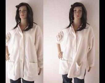 Vintage 80s fleece jacket elegance oversize
