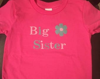 ON SALE Big Sister T-shirt/custom/personalized/gift for new big brother or sister