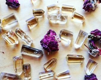 Small Citrine Points | Manifestation, Channel, Abundance, + Clarity Crystal Point for Energy Healing, Reiki, Chakras