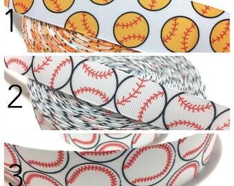 Baseball Ribbon, Baseball Decor, Baseball Grosgrain Ribbon, Baseball Party
