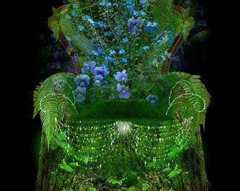 Moss Chair prop and Background